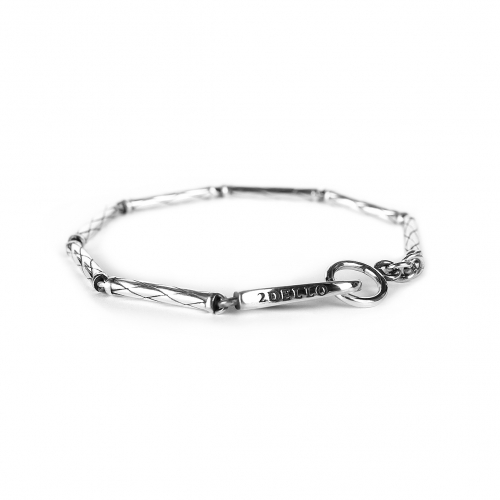 silver 925 weaving chain bracelet