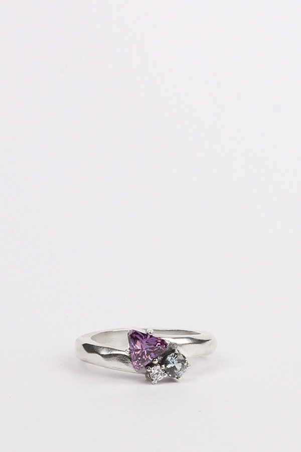 Purple triangle ring